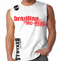 Brazilian Jiu Jitsu Stryker Muscle Sleeveless Shirt White