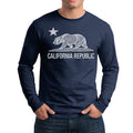 CALIFORNIA REPUBLIC STATE STAR BEAR LONG SLEEVE SHIRT NAVY