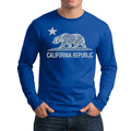 CALIFORNIA REPUBLIC STATE STAR BEAR LONG SLEEVE SHIRT ROYAL