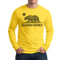 CALIFORNIA REPUBLIC STATE STAR BEAR LONG SLEEVE SHIRT YELLOW