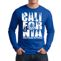 CALIFORNIA REPUBLIC STACK DESIGN LONG SLEEVE MENS T-SHIRT
