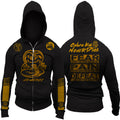 Cobra Kai Karate Kid Netflix Series Dodge Challenger Edition No Mercy Fear Pain Defeat Does Not Exist In This Dojo Adult Zip Up Hoodie
