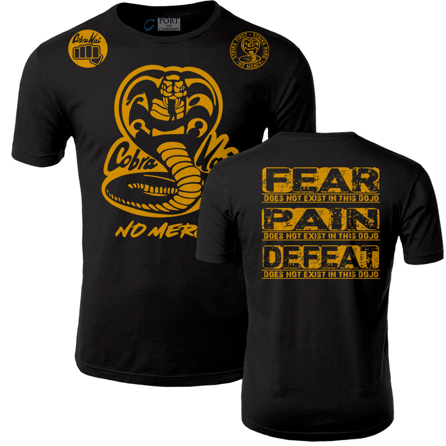 Fresh Off The Press Cobra Kai Karate Kid Netflix Series No Mercy Pain Does Not Exist In This Dojo Adult Shorts Sleeve T-Shirt