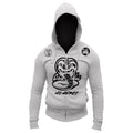 Cobra Kai No Mercy 80's Movie The Karate Kid Youtube Show Adult Full Zip-Up Hoodie Sweatshirt White