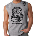 Cobra Kai No Mercy 80's youtube show Karate kid ufc mma striker Muscle Tank Top Gray