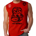Cobra Kai No Mercy 80's youtube show Karate kid ufc mma striker Muscle Tank Top Red Black Logos