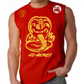 Cobra Kai No Mercy 80's youtube show Karate kid ufc mma striker Muscle Tank Top Red Gold Logos