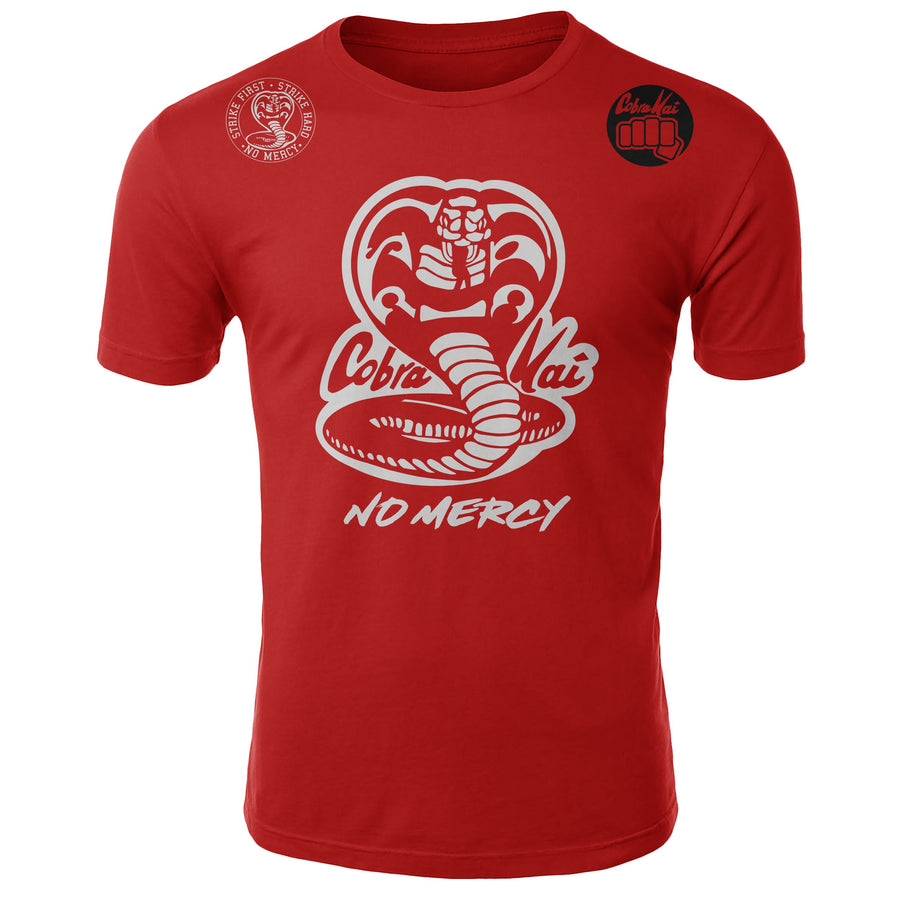 Cobra Kai No Mercy The Karate Kid MMA Fighters Adult T-Shirt Red