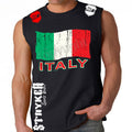 ITALY SOCCER MMA MENS MUSCLE SHIRT Black