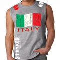ITALY SOCCER MMA MENS MUSCLE SHIRT Gray