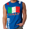 ITALY SOCCER MMA MENS MUSCLE SHIRT Royal Blue