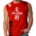 JIU JITSU STRYKER MMA MENS MUSCLE SHIRT RED