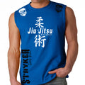 JIU JITSU STRYKER MMA MENS MUSCLE SHIRT ROYAL BLUE