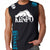 Kenpo Style Stryker Muscle Sleeveless Shirt BLACK / BLUE