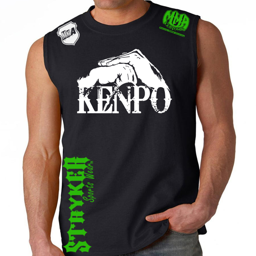 Kenpo Style Stryker Muscle Sleeveless Shirt BLACK / GREEN