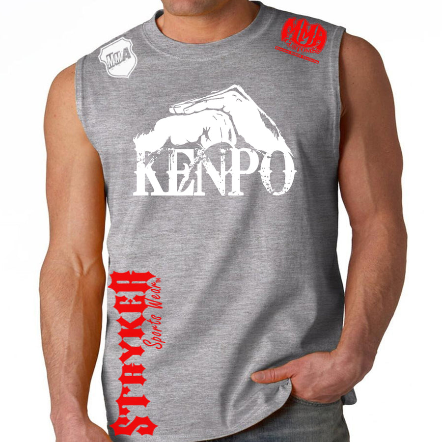 Kenpo Style Stryker Muscle Sleeveless Shirt GRAY