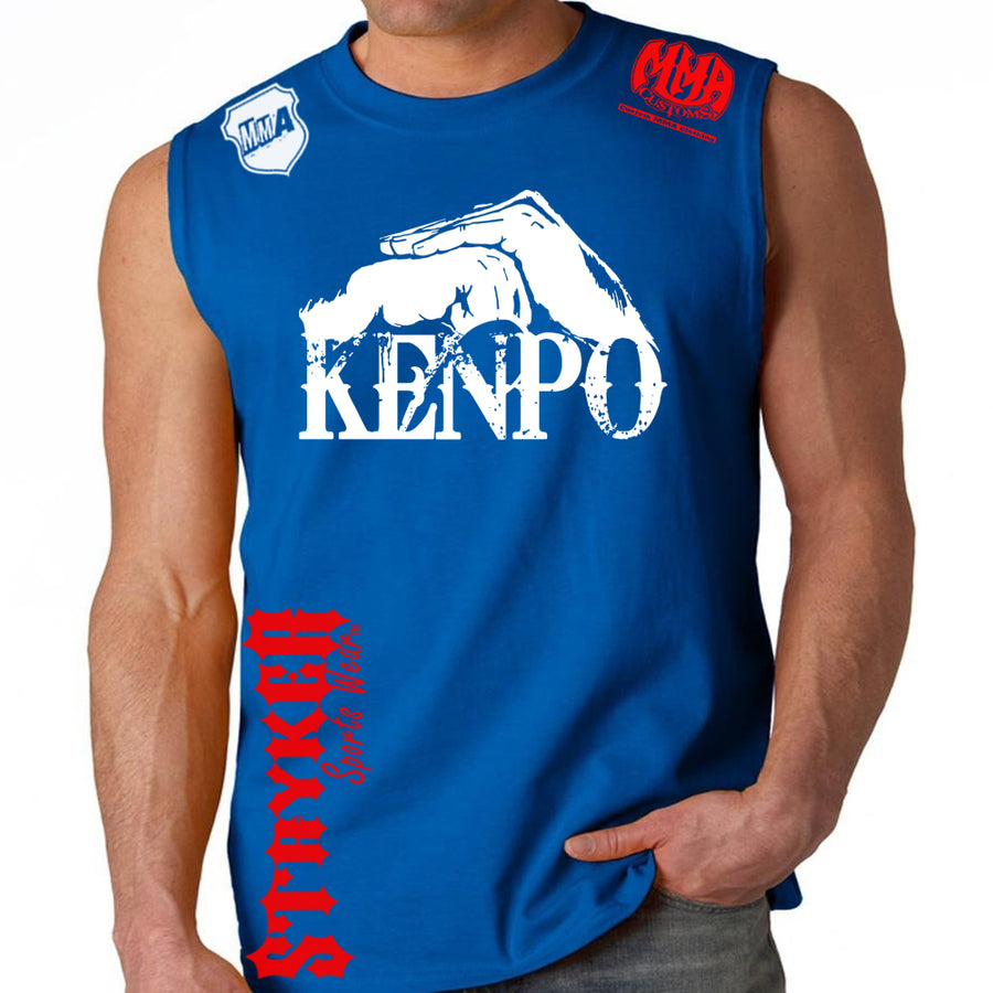 Kenpo Style Stryker Muscle Sleeveless Shirt ROYAL BLUE