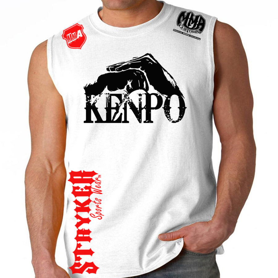 Kenpo Style Stryker Muscle Sleeveless Shirt WHITE