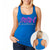 MMA COUTURE ELEGANT DESIGN GIRLS RAZOR BACK TANK TOP BLUE