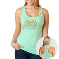 MMA COUTURE ELEGANT DESIGN GIRLS RAZOR BACK TANK TOP MINT