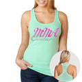 MMA COUTURE ELEGANT DESIGN GIRLS RAZOR BACK TANK TOP MINT GREEN