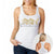 MMA COUTURE ELEGANT DESIGN GIRLS RAZOR BACK TANK TOP WHITE