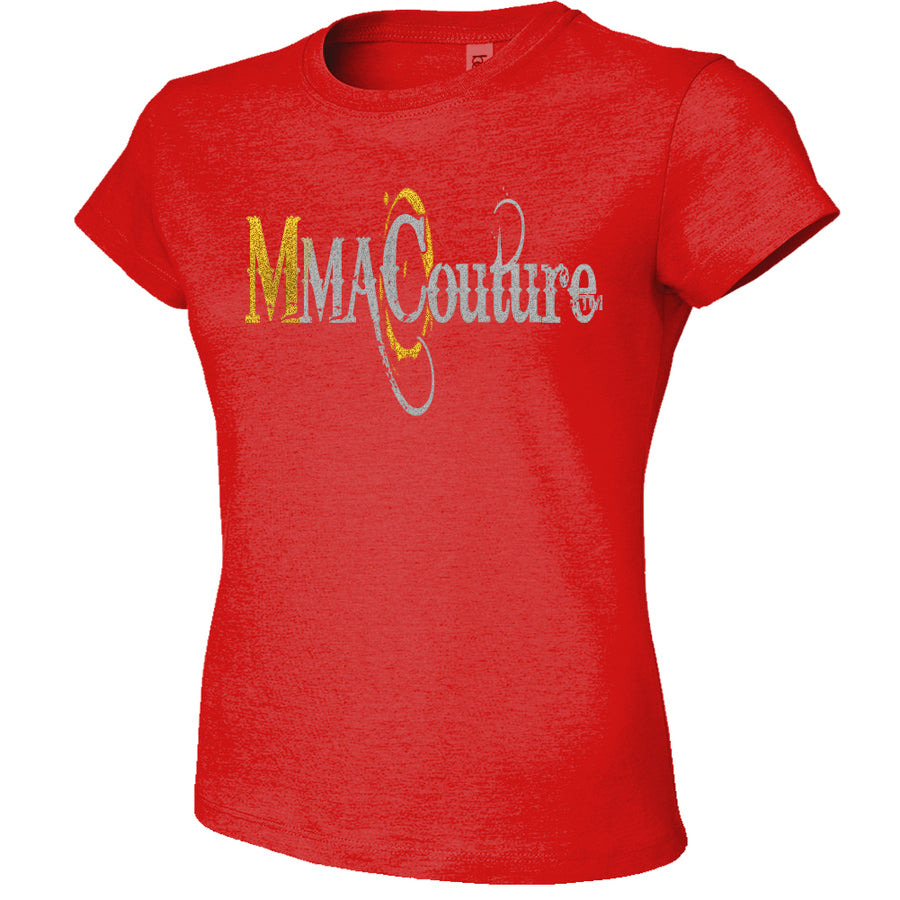 MMA COUTURE OC DESIGN GIRLS ADULT UFC CONCERT TEE RED