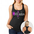 MMA COUTURE O DESIGN GIRLS RAZOR BACK TANK TOP BLACK