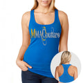 MMA COUTURE O DESIGN GIRLS RAZOR BACK TANK TOP BLUE