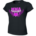 MMA COUTURE WINGS OF HEARTS GIRLS ADULT UFC CONCERT TEE BLACK