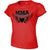 MMA COUTURE WINGS OF HEARTS GIRLS ADULT UFC CONCERT TEE RED