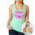 MMA COUTURE WINGS OF HEARTS GIRLS RAZOR BACK TANK TOP MINT