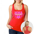 MMA COUTURE WINGS OF HEARTS GIRLS RAZOR BACK TANK TOP RED