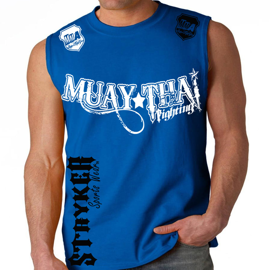 MUAY THAI FIGHTING STRYKER MMA MENS MUSCLE SHIRT