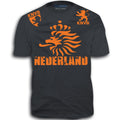 NEDERLAND ADULT FIFA WORLD CUP SOCCER FLAG T-SHIRT GRAY