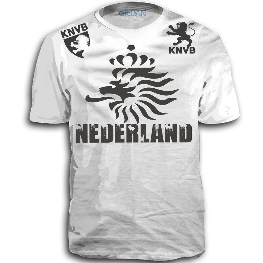 NEDERLAND ADULT FIFA WORLD CUP SOCCER FLAG T-SHIRT WHITE