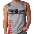 STRYKER FIGHT GEAR DEAD MANS SKULL MMA FIGHTERS MUSCLE SHIRT GRAY
