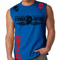 STRYKER FIGHT GEAR DEAD MANS SKULL MMA FIGHTERS MUSCLE SHIRT ROYAL