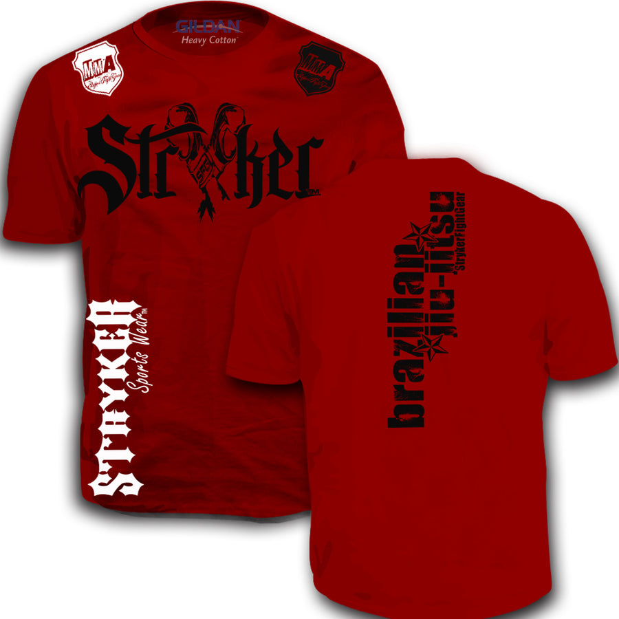 STRYKER FIGHT GEAR MMA BRAZILIAN JIU JITSU ADULT T-SHIRT