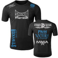 STRYKER STRYKER FIGHT GEAR SKULL BACK PAIN IS TEMPORARY VICTORY IS FOREVER ADULT MMA UFC T-SHIRT