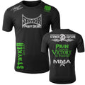 STRYKER STRYKER FIGHT GEAR SKULL BACK PAIN IS TEMPORARY VICTORY IS FOREVER ADULT MMA UFC T-SHIRT BLACK