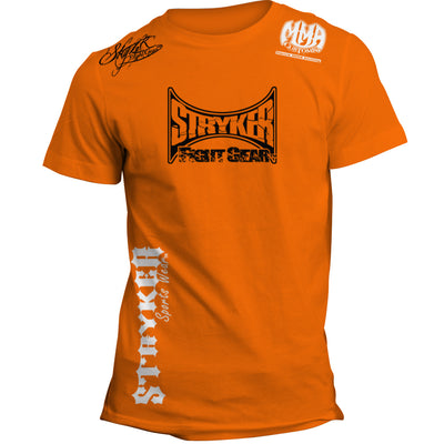 STRYKER MAIN LOGO MMA UFC T-SHIRT ORANGE