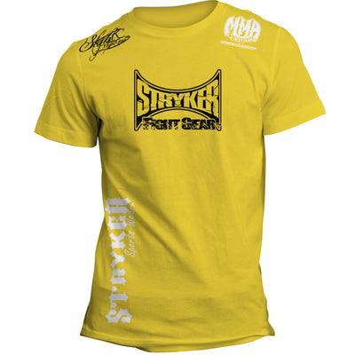 STRYKER MAIN LOGO MMA UFC T-SHIRT YELLOW