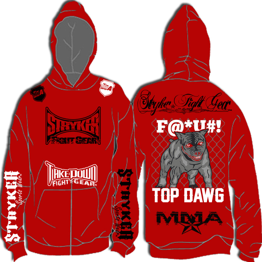 STRYKER PIT BULL TOP DAWG PULLOVER HOODIE