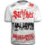 Stryker Fight Gear Y MMA GLOVES Takedown Fight Gear Skulls Muay Thai Fighting BJJ Walkout T-Shirt WHITE