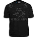 THE NETHERLANDS FIFA WORLD CUP ADULT SOCCER FLAG T-SHIRT GRAY LOGO DESIGN