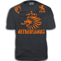 THE NETHERLANDS FIFA WORLD CUP ADULT SOCCER FLAG T-SHIRT GRAY TEE