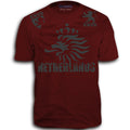 THE NETHERLANDS FIFA WORLD CUP ADULT SOCCER FLAG T-SHIRT MAROON RED
