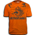 THE NETHERLANDS FIFA WORLD CUP ADULT SOCCER FLAG T-SHIRT ORANGE TEAM