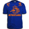THE NETHERLANDS FIFA WORLD CUP ADULT SOCCER FLAG T-SHIRT ROYAL BLUE